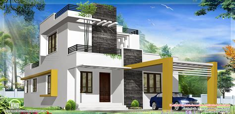 modern home plan 1500 sq feet beautiful modern contemporary house kerala