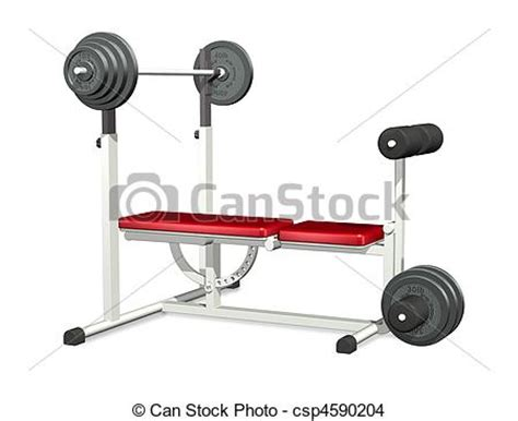 bench press argos drawing of weightlifting power bench 3d render