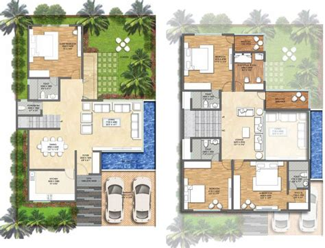 villa floor plans india villa house plans bangalore home design and style