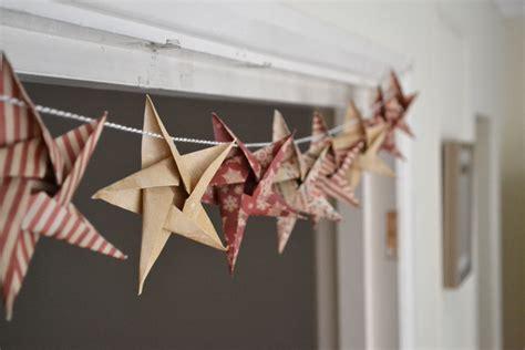 diy origami garland craft week
