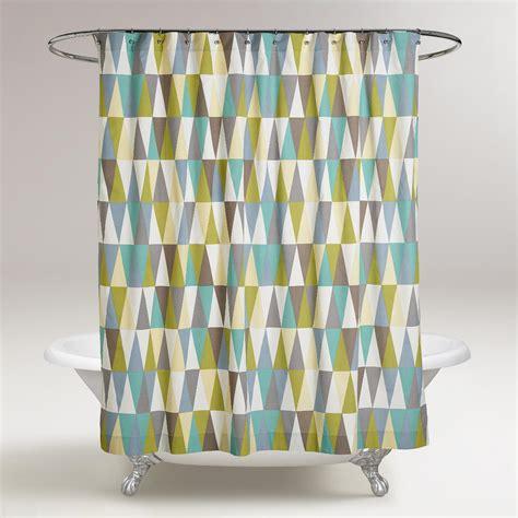 geometric curtain geometric aspen shower curtain world market