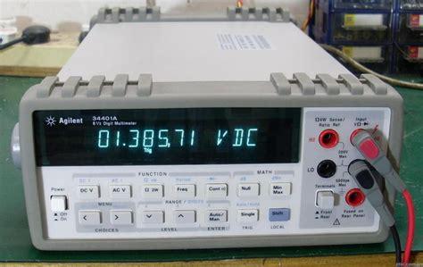 digital bench multimeter agilent hp 34401a 6 5 digit digital bench multimeter dmm w gpib rs 232 spaulding