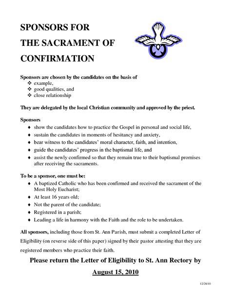 confirmation letter catholic