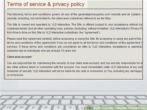 Privacy Policy by How To Create A Website Privacy Policy With Sle