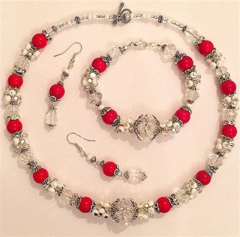 Handcrafted Beaded Jewellery - handmade beaded jewelry set