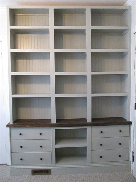Billy Bookcase Drawers by Can You Believe It S Built In Bookshelves With Rast