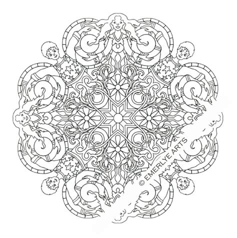 yin yang mandala coloring pages printable coloring page yin yang couple mandala
