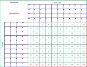 Office Football Pool Types Printable 100 Square Football Pool Template