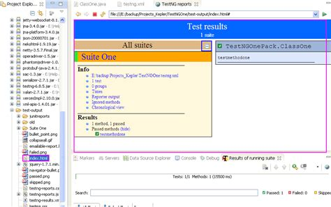 test html creating and running webdriver test suit using testng xml file