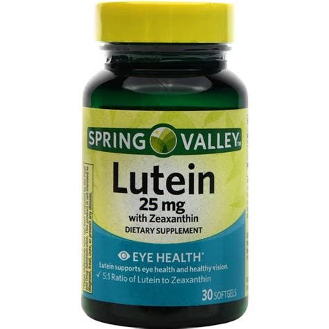 Suplemen Lutein Valley Lutein Zeaxanthin Dietary Supplement 30ct