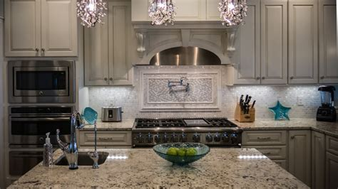 Picture Backsplash Kitchen Silver Frost Kitchen Artistic Tile And Stone North