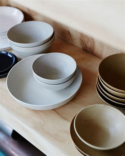 Handmade Plates And Bowls - anchor ceramics rustic handmade plates and bowls in soft