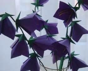Origami Bell Flower - bell flowers origami flower