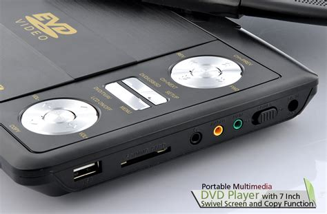 Movi Max P3 With Tv Analog 7 inch swivel screen portable dvd player cd copy analog