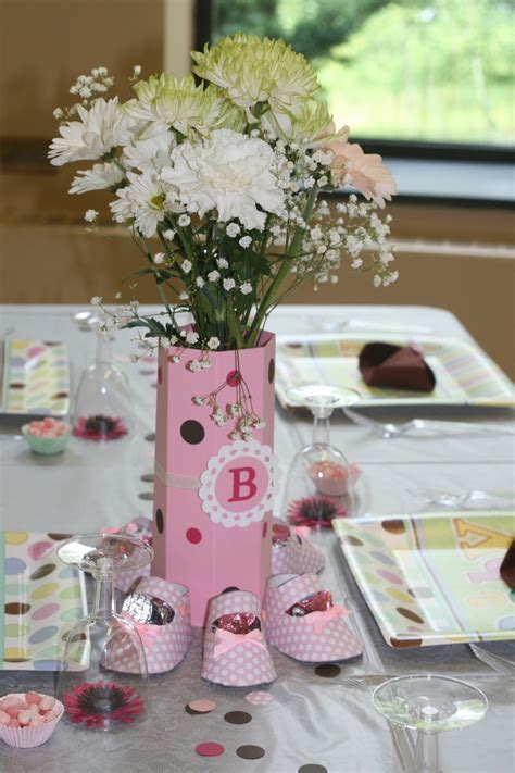 Girl Baby Shower Flower Arrangements My Wallpaper Related Centerpieces For Baby Shower Tables