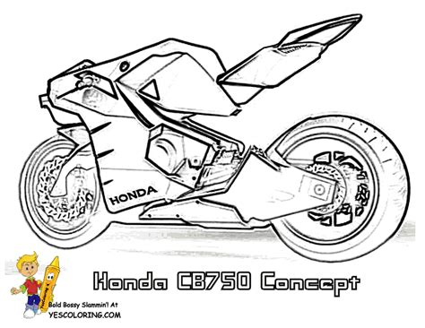 Coloring Pages To Print Motorcycle Street Bike Free Motorcycle Coloring Pages