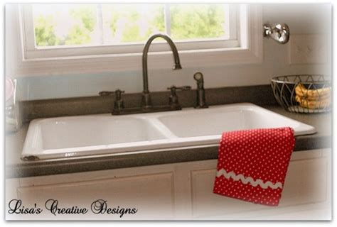 enamel cast iron farmhouse sink my farmhouse kitchen installing a quot quot kitchen sink