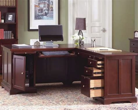 L Shaped Home Office Desks Corner Desk For Home Office As Space Saver