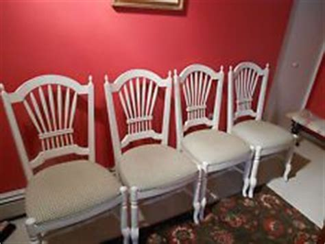 Ethan Allen Wheatback Bar Stools by Ethan Allen Country White Dining Room Table And