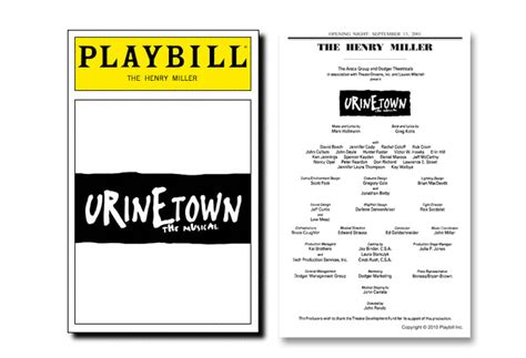 playbill template word playbill template beepmunk