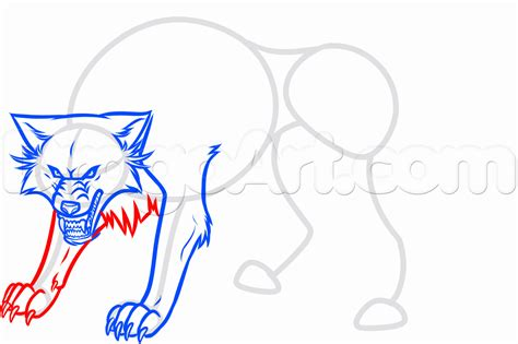 free draw how to draw a white wolf step by step anime animals