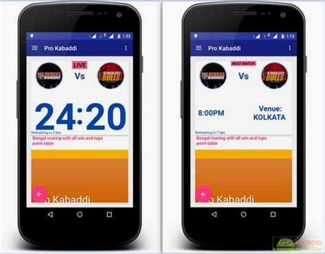 live app for android sports pro kabaddi live score apps for android devices go android apps