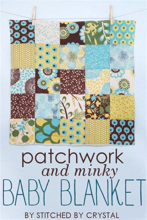 How To Make A Patchwork Baby Blanket - stitched by tutorial patchwork and minky baby