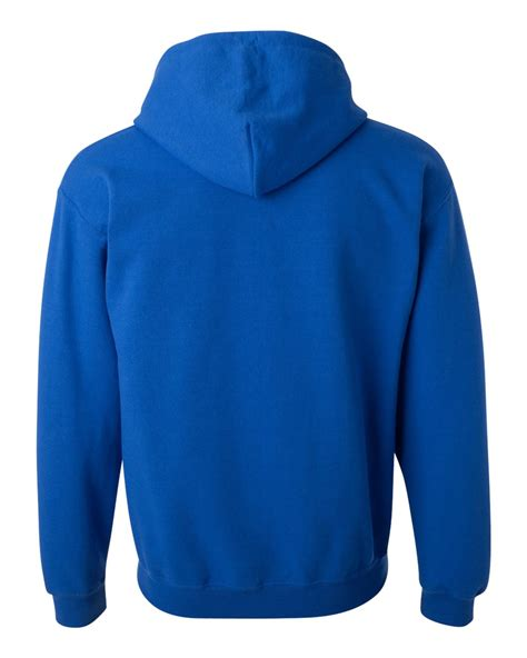 Topone88 Royal Hoodie Zipper Unisex Gray Gildan Heavy Blend Hooded Sweatshirt With Contrast Color