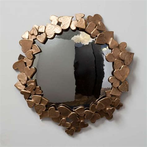 Handmade Mirror - quot coeurs quot unique handmade mirror by michel salerno at 1stdibs