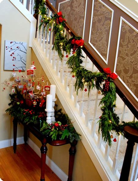 stair railing christmas ideas deck the halls centsational