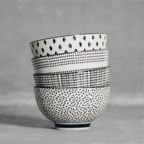 white pattern bowling edith bowl relish decor