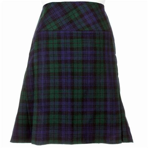 knee length black modern kilt skirt 20