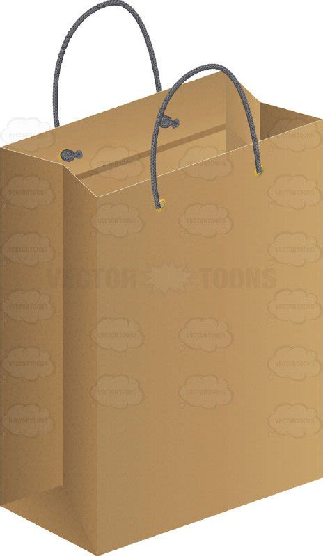 How To Make A Big Paper Bag - large brown paper gift bag clipart vector