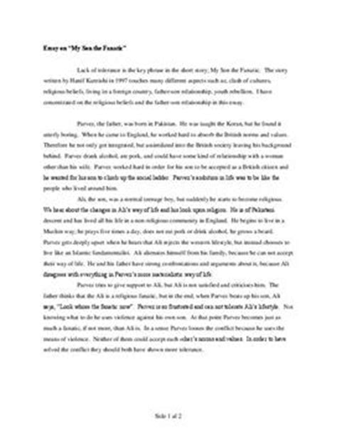 My The Fanatic Essay by Quot My The Fanatic Quot Aufgabe Schulhilfe De