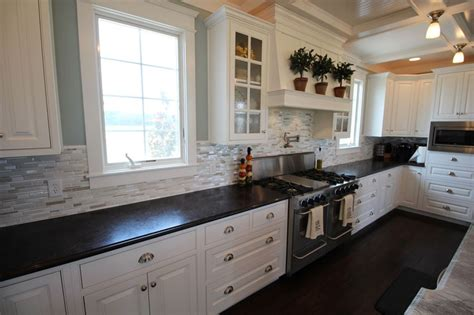 backsplash for white kitchen cabinets 25 stylish galley kitchen designs designing idea