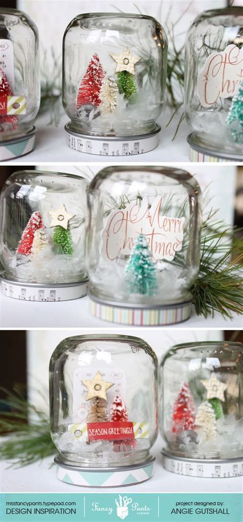 diy decorations snow globe the top hop with tombow jars