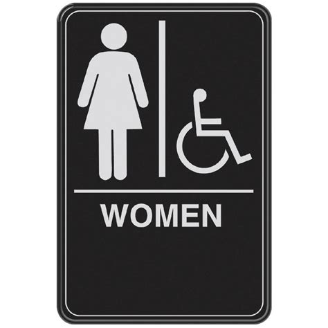 bathroom signs canada the hillman group 844150 9 in x 6 in women handicap