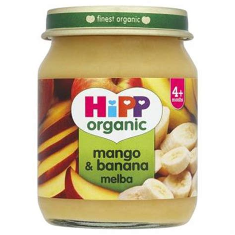 baby food organic mango and banana melba baby food in 125g from hipp