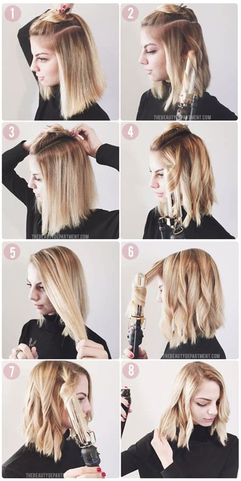 how to get soft curls in medium length hair how to style a lob or a bob lob bobs and tutorials