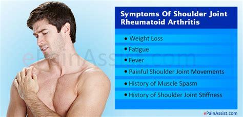 arthritis symptoms shoulder joint rheumatoid arthritis symptoms treatment conservative pt surgery