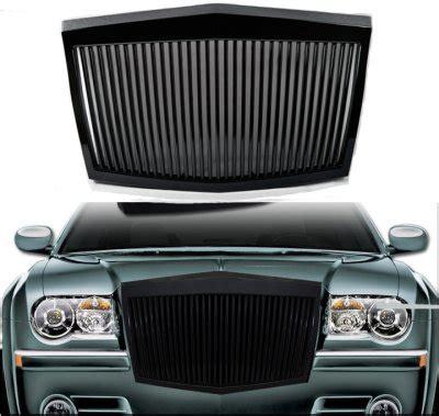 Chrysler 300 2005 2010 Black Phantom Style Vertical Grille