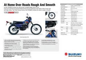 Suzuki Brochure Pdf Suzuki Ts185 Brochures