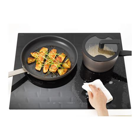 induction hob 5 year guarantee folklig induction hob black 58 cm ikea