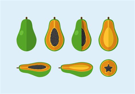 eps clipart vector papaya free vectors clipart graphics