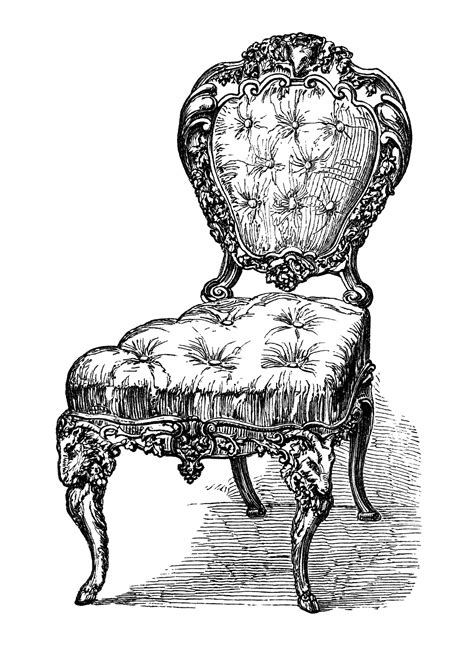 vintage and chairs antique chairs free clip art engravings old design