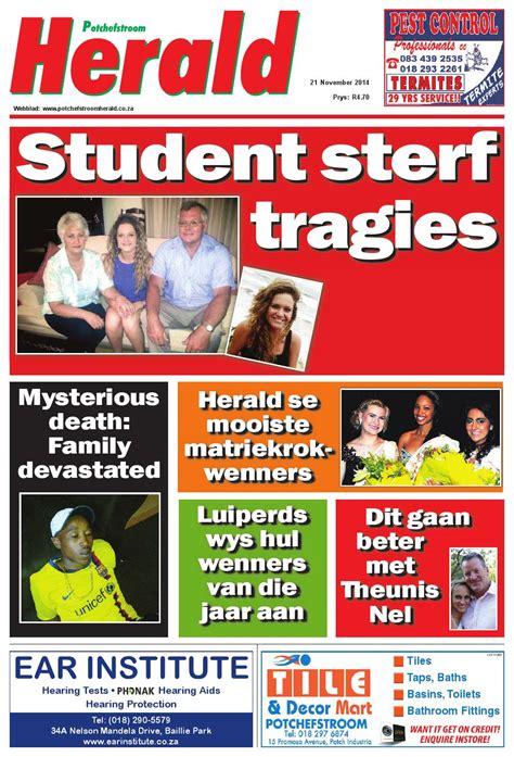 Heralded By The Herald by Potch Herald 20141121 By Potchefstroomherald Issuu
