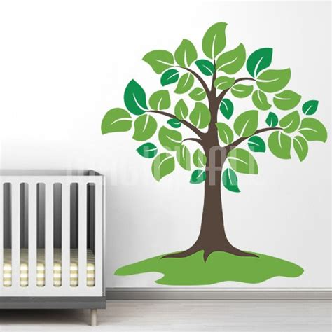 Giant Tree Wall Stickers giant tree with large leaves wall decals stickers
