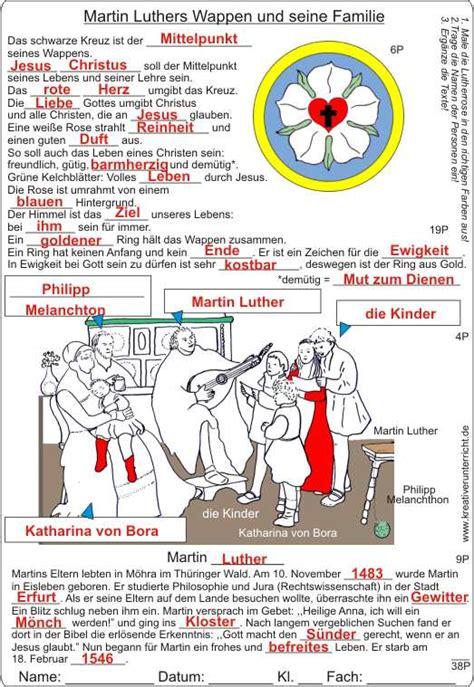 Martin Luther Lebenslauf Bilder Martin Luthers Wappen Und Seine Familie