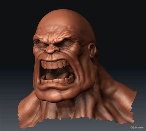 zbrush mouth tutorial making of red hulk in zbrush
