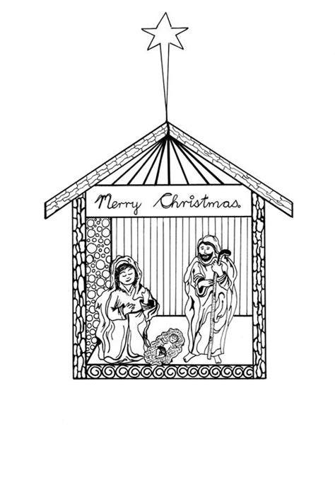 printable christmas cards to color nativity free printable nativity scene coloring pages